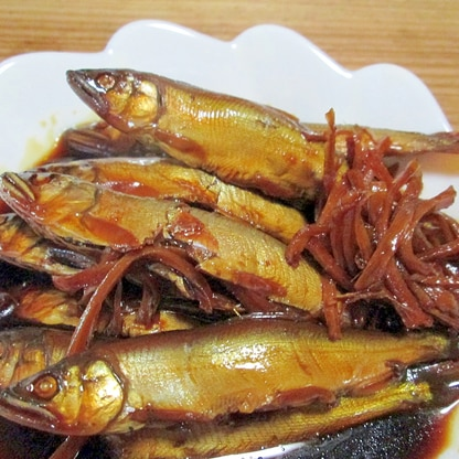 小鮎の甘露煮(圧力鍋使用)