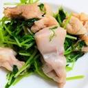豆苗と鶏肉の炒め物