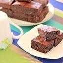 チョコレートとベーキングパウダー未使用ブラウニー