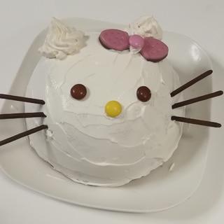 ボウルで作る☆キティちゃん?アイスケーキ