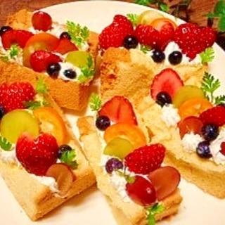 シフォンケーキ☆フルーツサンド