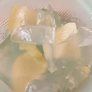 【甘さ控えめ】桃の寒天