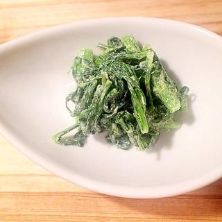 【簡単5分で常備菜】春菊のマヨネーズ和え胡麻風味