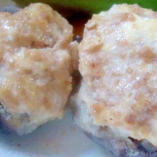 レンジで簡単 しいたけの肉詰め(レンジ蒸し)