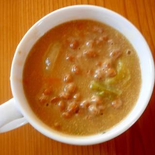納豆カレースープ