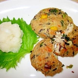 高野豆腐・厚揚げの野菜入りがんも風揚げ