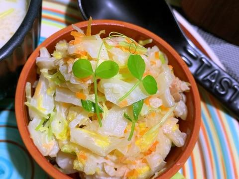 甘酢生姜たっぷりの和風ツナ白菜コールスロー