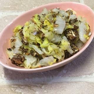 おせち料理リメイク!田作り白菜和え♪
