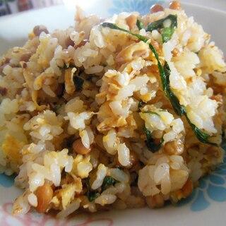 納豆と大葉のチャーハン