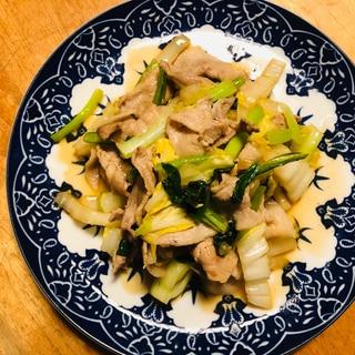 豚バラとお野菜のピリッと柚子胡椒炒め