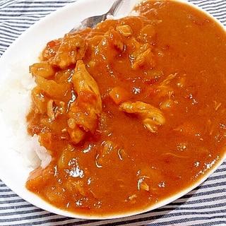 完熟トマト缶で夏のチキンカレー(圧力鍋)