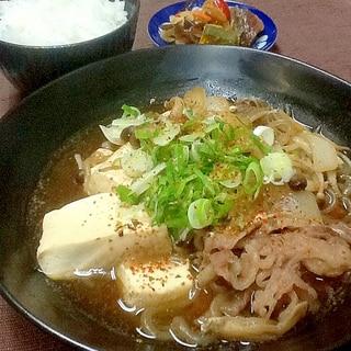 牛バラ肉のシンプルな肉豆腐