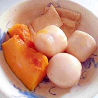 かぼちゃと里芋と油揚げの煮物
