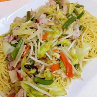 冷凍中華野菜で!(^^)簡単あんかけ焼きそば♪