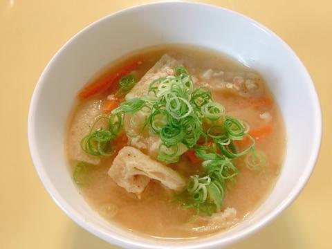 里芋と揚げの打ち豆汁✰