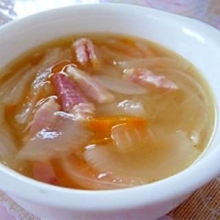 ベーコンと玉ねぎ★美味しいスープ