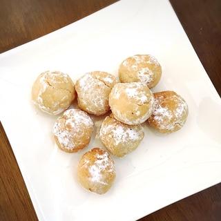 バターなし!米粉のザクザクまんまるクッキー☆