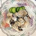 胡瓜、牡蠣の和え物~♪