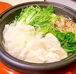 大根と鶏むね肉のあっさり鍋