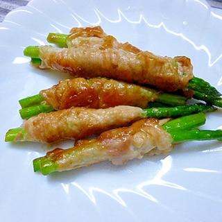 しゃぶしゃぶ用で巻くと野菜が濃いね、アスパラの肉巻