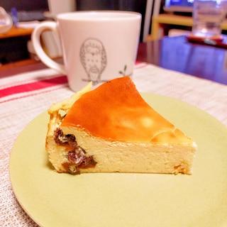 あっさりだけど芳香☆ラムレーズンチーズケーキ