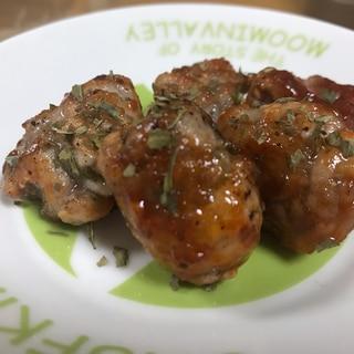 ケチャップ味の豚コマ団子