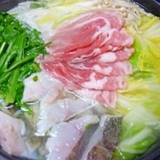鱈と豚の水炊き**