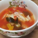 シンプル★キャベツだけのトマトスープ