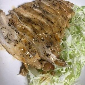 電子レンジで簡単!鶏むね肉でやわらかサラダチキン♪