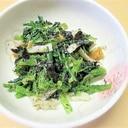 簡単小鉢☆春菊・竹輪のごま・海苔和え