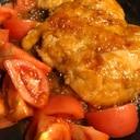 トマトの副菜同時調理!チキン南蛮甘酢☆