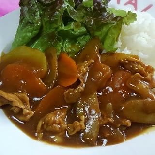 ゴボウ入り☆根菜と豚肉のカレー