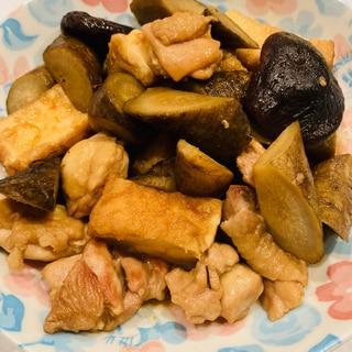 鶏もも肉とごぼうと厚揚げの煮物