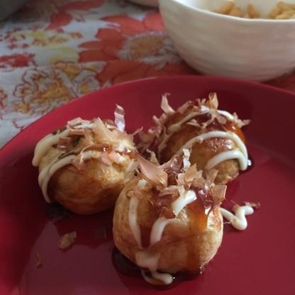 リピートです♡ 前回美味しかったのでまたこのレシピで、たこ焼きパーティーしました! ご馳走さまでした(o^^o)