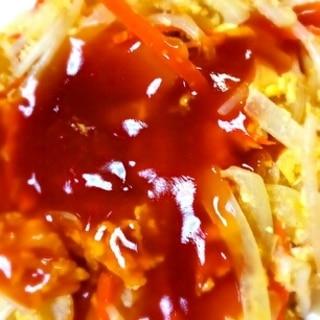 冷蔵庫にあるもので簡単☆野菜の甘酢あんかけ♪
