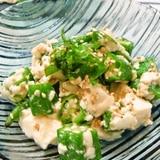 オクラと豆腐のネバネバごまサラダ☆