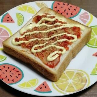簡単ごまキムチトースト