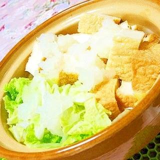 土鍋で作ろ❤白菜と厚揚げのみぞれ鍋❤