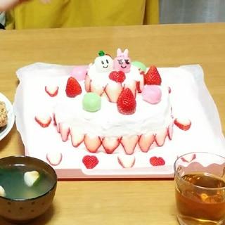 簡単ひなまつりケーキ♡2段