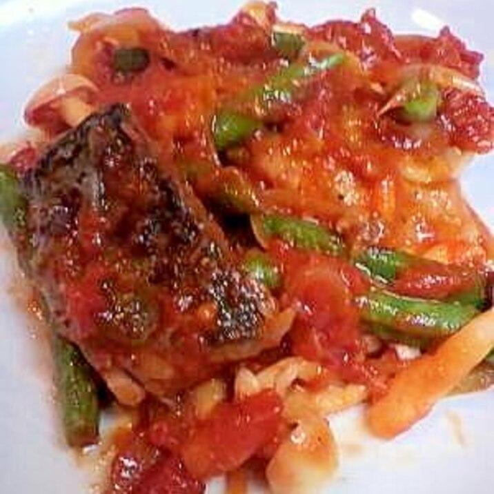 サバのピリ辛トマト煮
