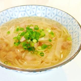中華風✿鶏と大根のにゅうめん