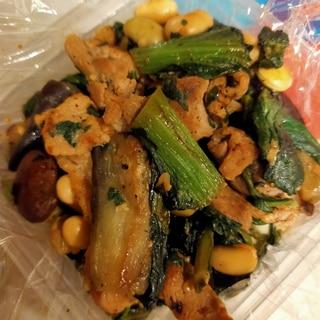 小松菜と豚肉の塩麹炒め