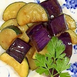 ズッキーニと茄子のココナッツオイル炒め