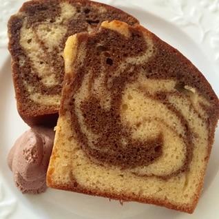 HMでコーヒーマーブルパウンドケーキ