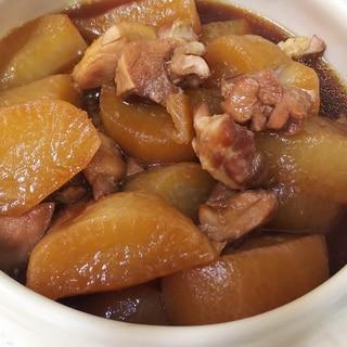 圧力鍋で♪鶏ももと大根の煮物