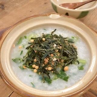 冷ご飯で時短簡単♪お茶漬けの素で満足七草粥