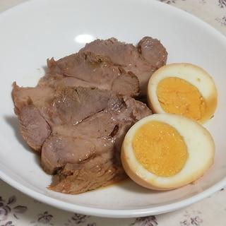 炊飯器で簡単♪豚肩ロースでヘルシーチャーシュー煮卵