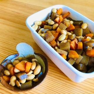 お弁当や常備菜に☆大豆とこんにゃく煮