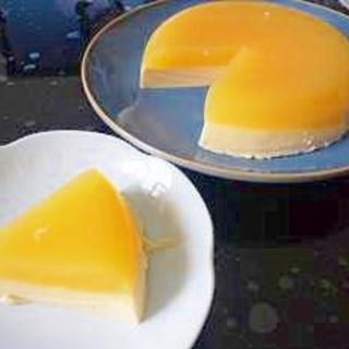 二層に分かれる!オレンジのゼリー&ババロア