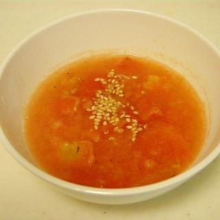 シンプルに★冷凍トマトのスープ